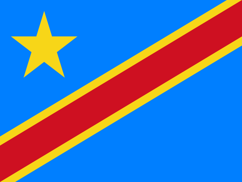 Flag of the Democratic Republic of the Congo svg